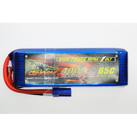 Dinogy 4000mAh 18.5V 65C Lipo Battery (DG-LP5S4000-65)