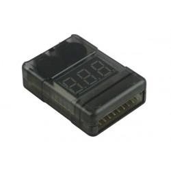 Voltmetre Lipo/ LiPo-Checker 1-8S in a plastic case