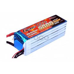 Gens ace 5000mAh 22.2V 45C 6S1P Lipo Battery Pack (B-45C-5000-6S1P)