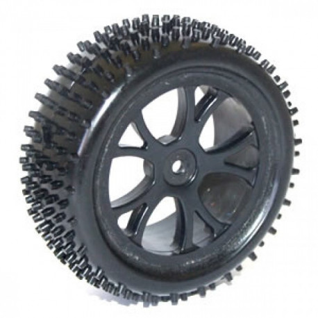 FTX VANTAGE FRONT BUGGY TYRE MOUNTED ON WHEELS (PR) - BLACK (FTX6300B)