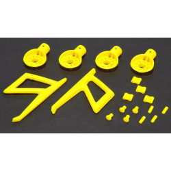 MR200 Support Moteur / Motor Mounts and Parts set (Yellow)