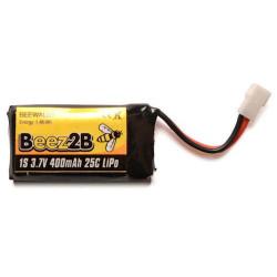 Batterie Lipo 1s 3.7V 400mAh 25C pour WK Genius/Mini CP/Ladybird & X4