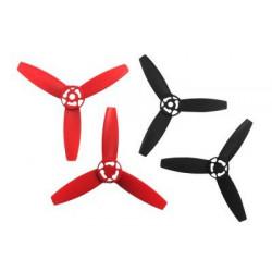 Hélices Bebop Drone - rouges et noires (PF070078AA)