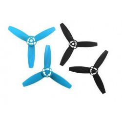 Hélices Bebop Drone - noires et bleues (PF070105AA)
