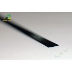 Profilé carbone plat 5.0/1.0mm - 1m (212017)