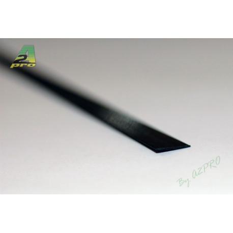 Profilé carbone plat 6.0/1.0mm - 1m (212018)