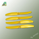 Hélice PTK (2 paires CW+ CCW) 5x3 jaune (PJ5030)