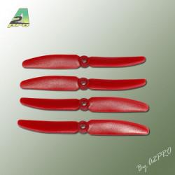 Hélice PTK (2 paires CW+ CCW) 5x3 rouge (PR5030)