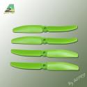 Hélice PTK (2 paires CW+ CCW) 5x3 vert (PV5030)