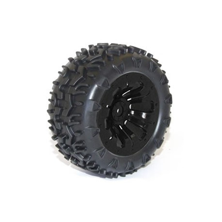 FTX CARNAGE Roue MOUNTED WHEEL/TYRE COMPLETE PAIR - BLACK (FTX6310B)