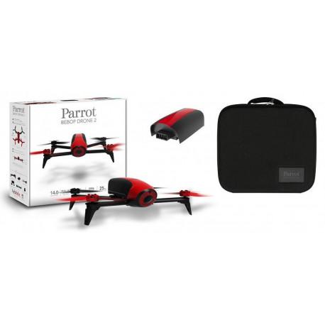 Drone Parrot Bebop 2 Rouge + Malette de transport Parrot + Batterie