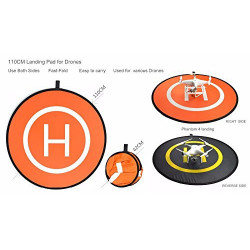 Fast-fold protective landing pad helipad for RC Drone Quadcopter Helicopter
