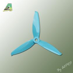 Helice Gemfan Tripale bleu polycarbonate 5x5 (2 paires) (TGB5152)