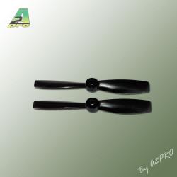 Helice Gemfan fibre SF 5x4.5 PUSH demi bullnose noir (2 pcs) (GNB5045P)