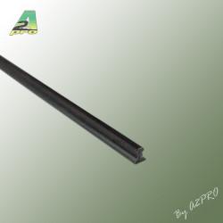 Profile styrene Rail Lg 1m x 1.35mm scale (H0) (246052)