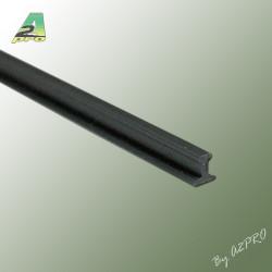 Profile styrene Rail Lg 1m x 3.50mm scale G (246058)