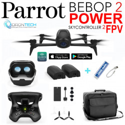 Drone Bebop 2 POWER Pack FPV + 2 Batteries +Sac de transport + Batterie externe de secours
