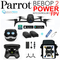 Drone Bebop 2 POWER Pack FPV avec 2 Batteries +Sac de transport + Batterie externe de secours