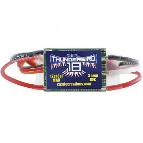 CASTLE THUNDERBIRD-18 AIR BRUSHLESS ESC 18A 15V BEC (010-0058-00)