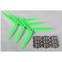 Three Blade 7x3.5 Propellers Green (3pcs)