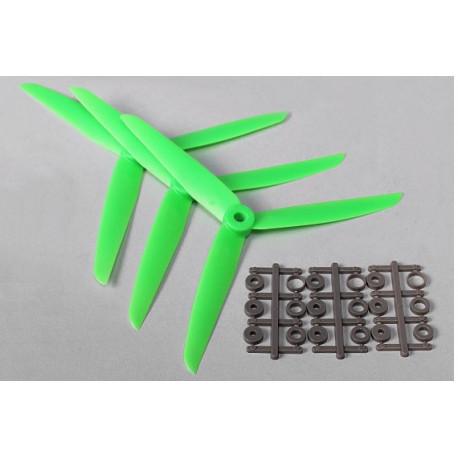 Three Blade 7x3.5R Propellers Green (3pcs)
