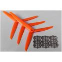Three Blade 7x3.5R Propellers Orange (3pcs)