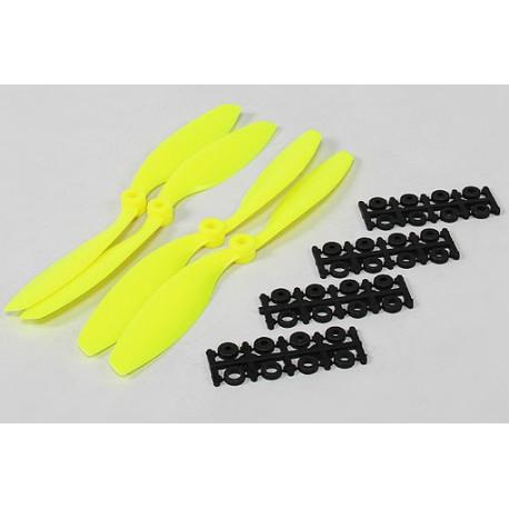 8040 SF Propellers 2pcs Standard Rotation / 2pcs Right Hand Rotation Flouro Yellow