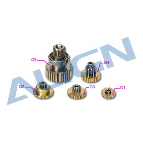 DS515 Servo Gear Set (HSP51502T)