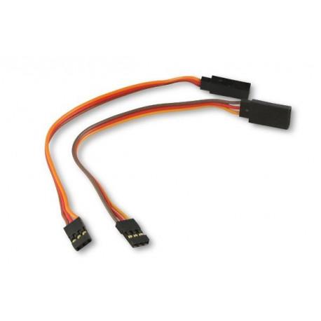 Rallonge Servo extension wire 2x (JR/FUT/UNI) 15cm
