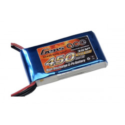 Gens ace 450mAh 11.1V 25C 3S1P Lipo Battery Pack (B-25C-450-3S1P)