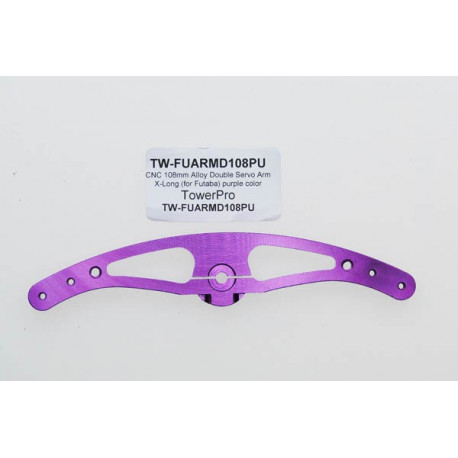 CNC 108mm Alloy Double Servo Arm X-Long (for Futaba) purple color