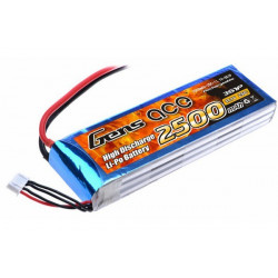 Gens ace 2500mAh 11.1V 25C 3S1P Lipo Battery Pack (B-25C-2500-3S1P)