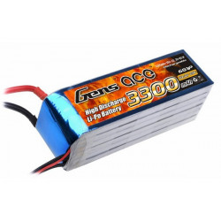Gens ace 3300mAh 22.2V 25C 6S1P Lipo Battery Pack (B-25C-3300-6S1P)