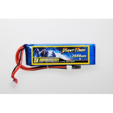 Giant Power battery LIPO 2600mAh 7.4V TX (17x31x100mm) (GN-LP2S2600-TX)