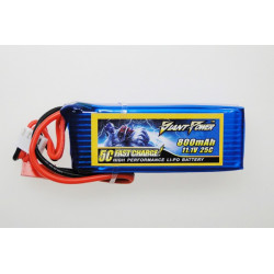 Giant Power battery LIPO 800mAh 11.1V 25C Big LAMA (GN-LP3S800-25)