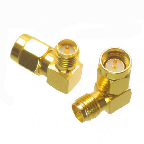 SMA jack to RP-SMA plug 90 degree adapter
