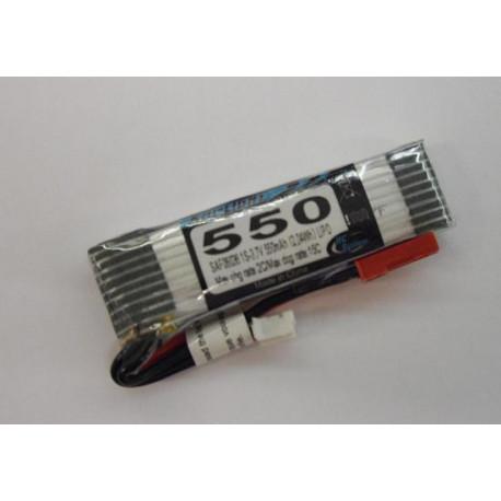 Accu lipo 550MAH 1S 3.7V 15C MINI Q4, LARK et E FLIGHT (SAF06036)