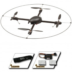 500X Quad Flyer Combo Kit (Mot. ESC.bag. frame & GU-344)