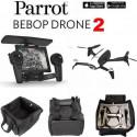Pack Drone Parrot Bebop 2 Camera 14MP Blanc + Skycontroller + Sac de transport avec poche Zippee