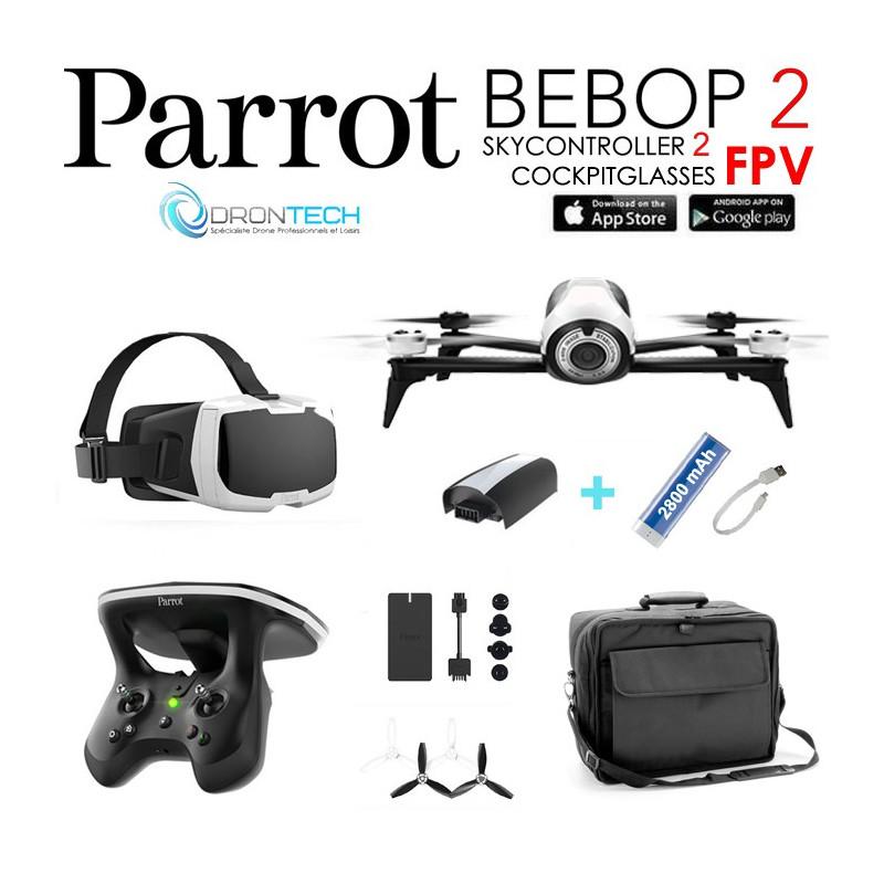 pa bb2fpvsk2bagpw pack fpv bebop 2 drone cockpitglasses. Black Bedroom Furniture Sets. Home Design Ideas