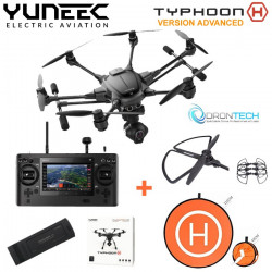 TYPHOON H Advanced Boite Carton Radio ST16 Homologué S1 S3+ Camera CGO3 + 1 x Batterie + Pad d'envol + protection helice