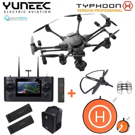 TYPHOON H PRO RTF Sac à dos Backpack + Radio ST16 + Camera CG3+ 1 x Wizard + 2 x Batteries + Pad d'envol + Protection d'helice