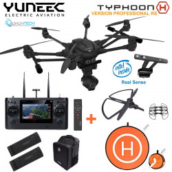TYPHOON H RS RTF Sac à Dos Backpack + Radio ST16 + RealSense + Camera CGO3+ Wizard + 2 Batteries + pad d'envol + Protection