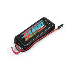 VOLTZ 1600mah 2S 6.6V RX LiFe STRAIGHT BATTERY PACK