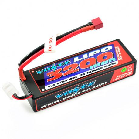 VOLTZ 3200mah HARD CASE 7.4V 40C LIPO STICK PACK