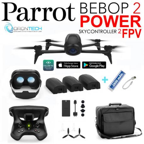 Drone Bebop 2 FPV Power + Sac Millenium + Batterie + Power bank