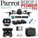 Drone Bebop 2 POWER Pack FPV avec 3 Batteries +Sac de transport + Batterie externe de secours