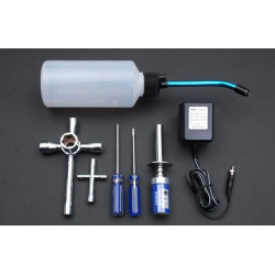 Nitro Starter Kit (Glow Starter 2000mAh, Fuel Bottle, Tools)