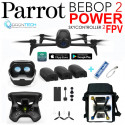 Drone Bebop 2 POWER Pack FPV avec 3 Batteries +Sac de transport Zippé + Batterie externe de secours