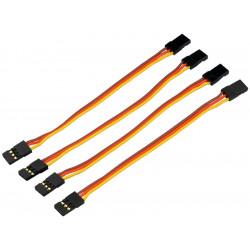 Câble patch de servo contact PK UNI prise femelle 10cm 4 unités (600208)